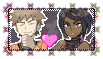Pokemon Stamp: Brock and Olivia love by AnnaDreamer24