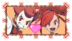 Pokemon Stamp: Chili and Flannery love by AnnaDreamer24