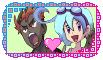 Pokemon Stamp: Kiawe and Chloe love