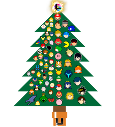 Super Smash Bros. Ultimate's Christmas Tree. by JBMartian