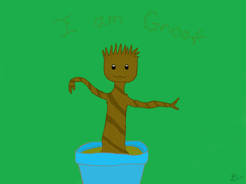 ~I am Groot~ by LittleRedHead54