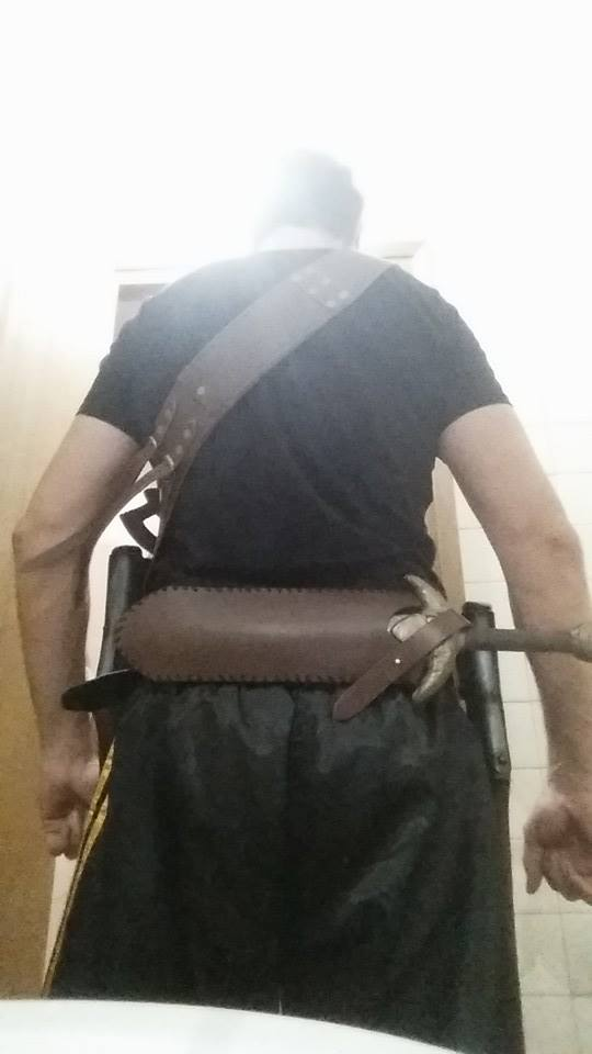 weapon holder bandolier and belt by demonmambo