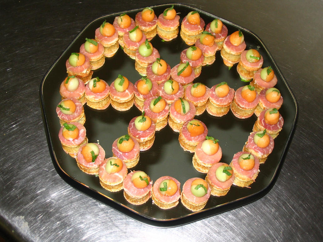 prosciutto melon canapes by autumnsweater on deviantart