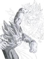 Goku VS Vegeta WIP 4 by pete-tiernan