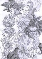 Goku Super Saiyan Forms by pete-tiernan