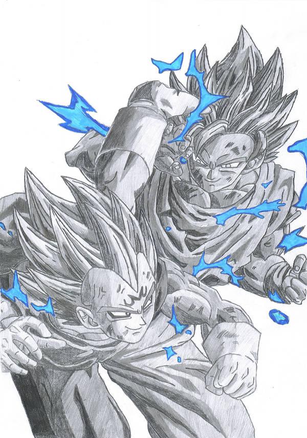 Goku VS Vegeta by pete-tiernan