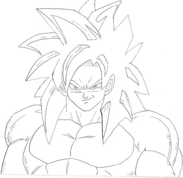 Super Saiyan 4 Drawings Super Saiyan 4 Drawing
