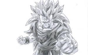 Goku Super Saiyan 3 by pete-tiernan