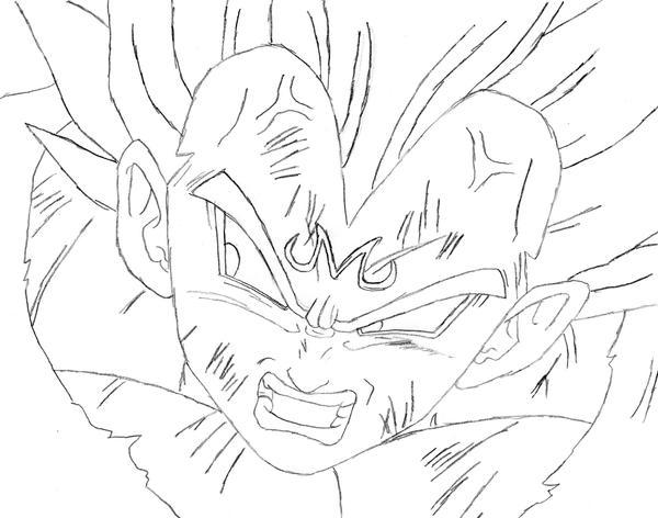 Dragon Ball Gogeta Cuerpo Completo Para Dibujar: Imagenes De Majin Vegeta Para Dibujar