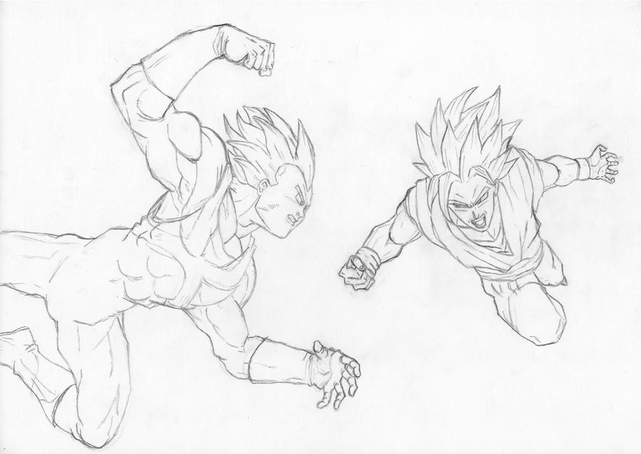 Vegeta Vs Goku by pete-tiernan on DeviantArt