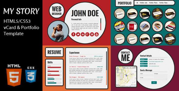 mekshq 0 0 my story html5css3 vcard and portfolio template by egemenerd - Resume Portfolio Template