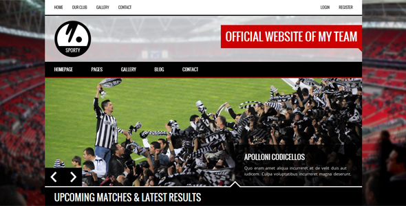 SPORTY - Responsive HTML5 Template for Sport Club by egemenerd
