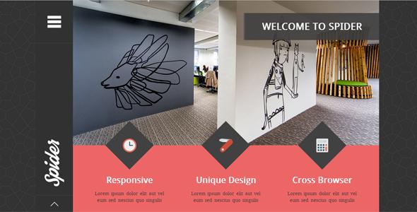Spider - Flat Creative Portfolio HTML Template by egemenerd