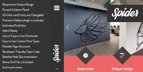 Spider - Flat Creative Portfolio Wordpress Theme by egemenerd