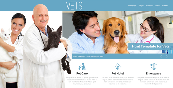 VETS - Veterinary Medical Health Clinic Template by egemenerd