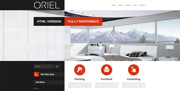 ORIEL - Responsive Interior Design HTML5 Template by egemenerd