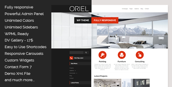 ORIEL - Responsive Interior Design WordPress Theme by egemenerd