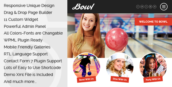 Bowl - Responsive Bowling Center WordPress Theme by egemenerd