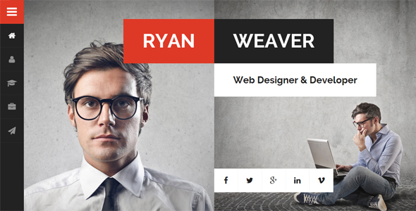 Divergent - Personal Vcard Resume WordPress by egemenerd