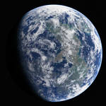 Planet Surfacing with Clouds
