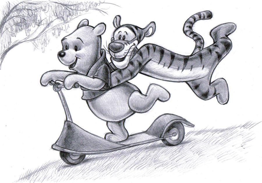 Winnie the Pooh  and  Tigger by zdrer456
