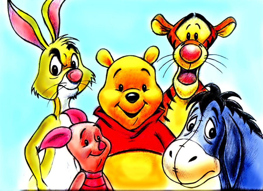 Winnie the pooh and friends by zdrer456 on deviantart - Winnie the pooh and friends wallpaper ...