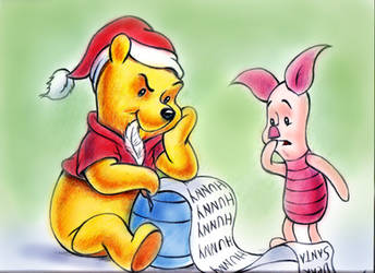 Winnie the Pooh  and  Piglet by zdrer456