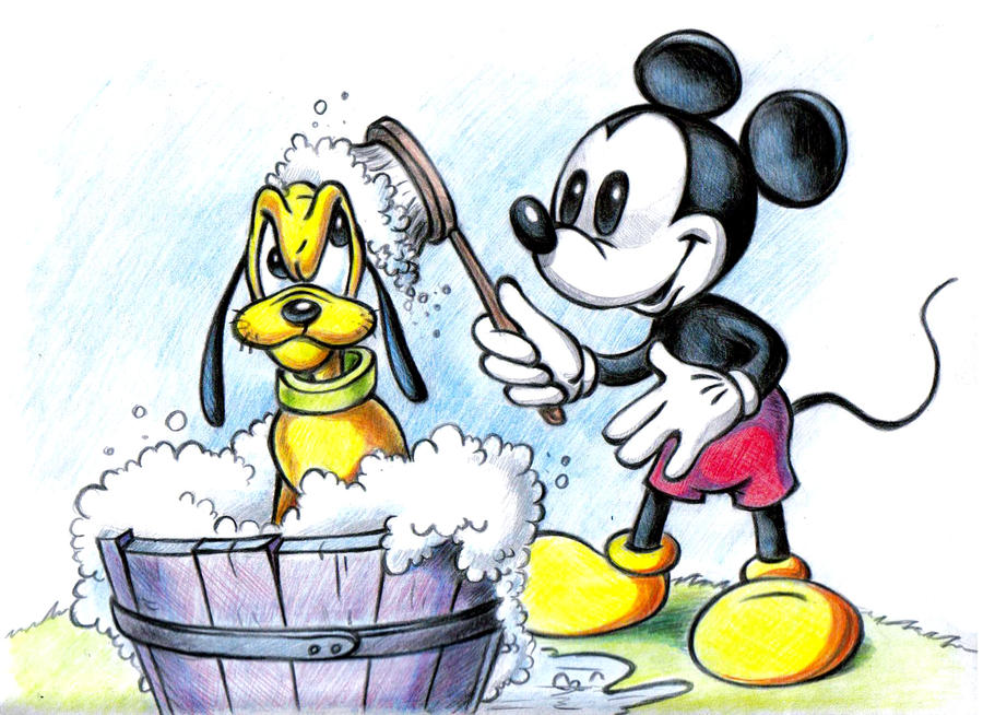 Mickey Mouse and Pluto by zdrer456 on DeviantArt