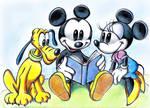 Mickey,  Minnie,  Pluto