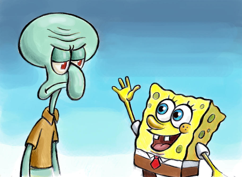 SpongeBob and Squidward by zdrer456