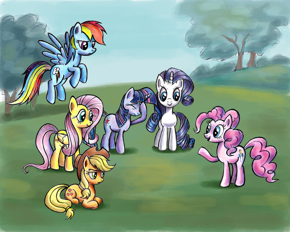 Pinkie Pie and Friends by zdrer456