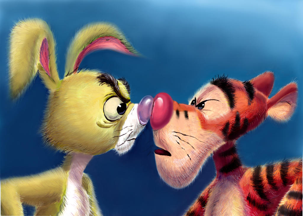Tigger and Rabbit by zdrer456