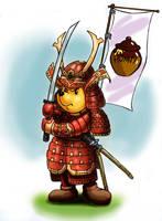 Winnie the Pooh in Samurai Costume by zdrer456