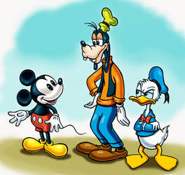 Mickey Mouse, Donald Duck and Goofy by zdrer456
