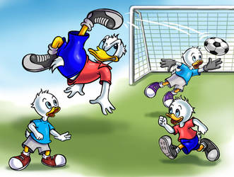 Donald Duck and Nephews by zdrer456