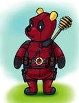 Winnie the Pooh in Deadpool Costume by zdrer456