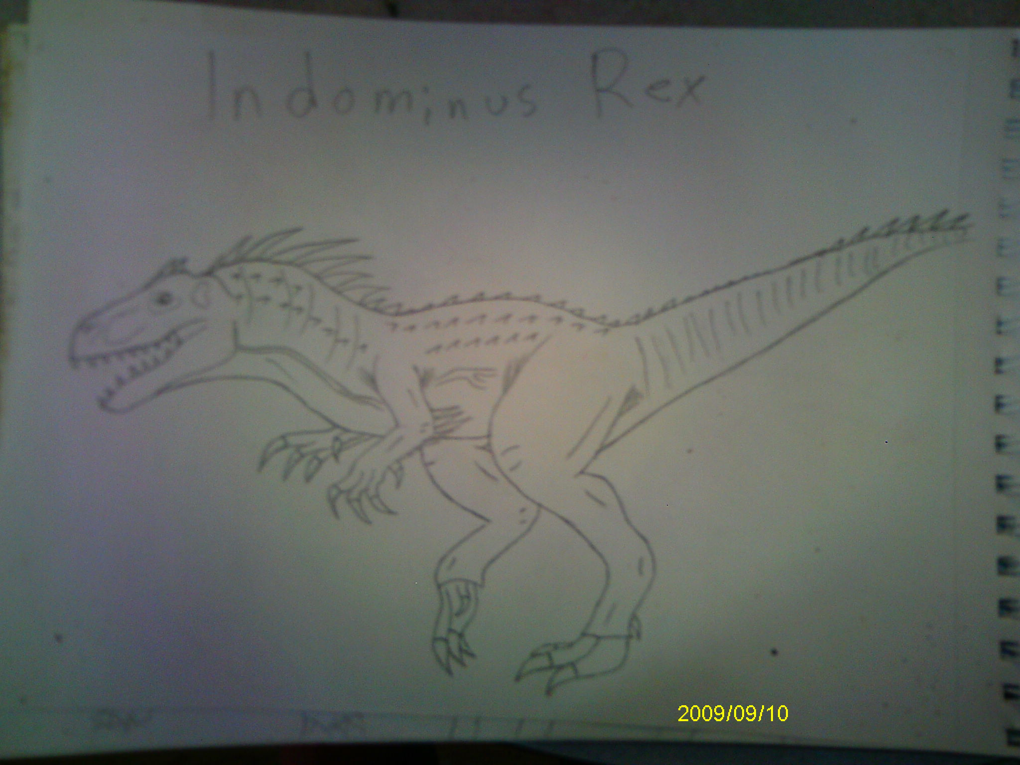 how to draw jurassic world t rex
