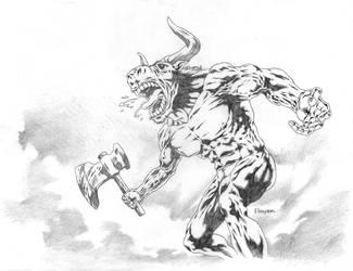 Monster series no.1 MINOTAUR by Ebayson