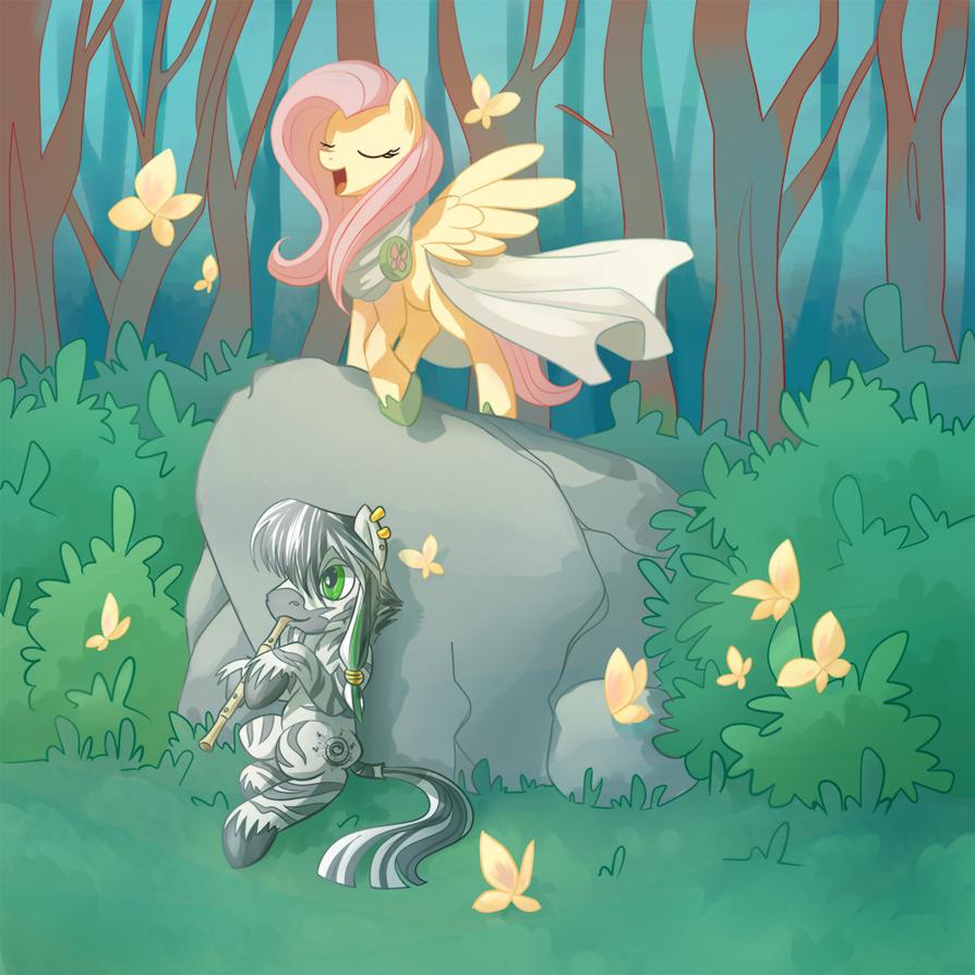 Lullaby Fluttershy cover art by Samaerro