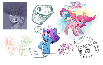 pony sketches and other stuff by Samaerro