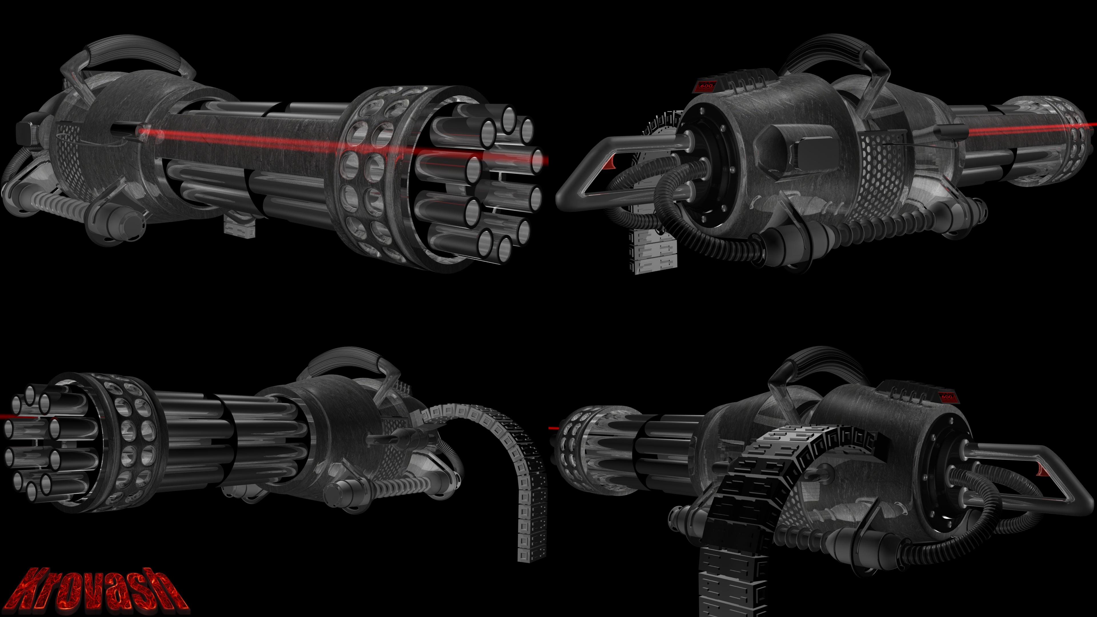 futuristic heavy machine gun