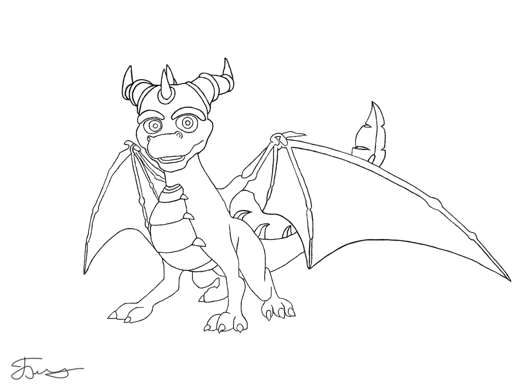 spyro and cynder coloring pages - photo#4