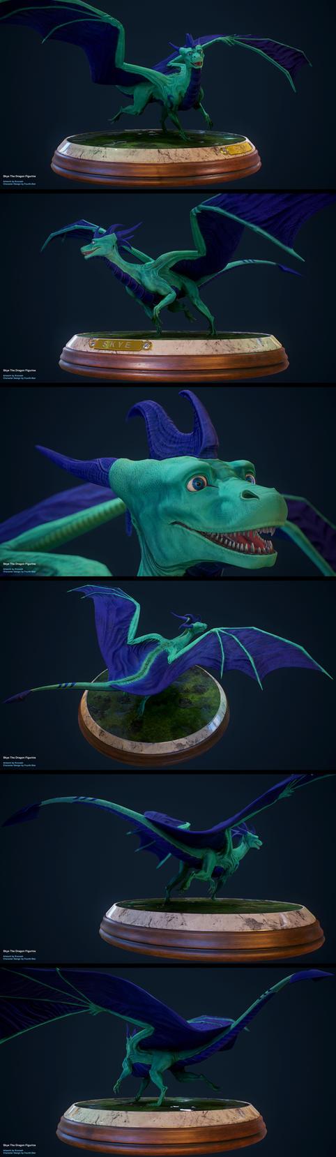 Skye The Dragon Figurine by Krovash