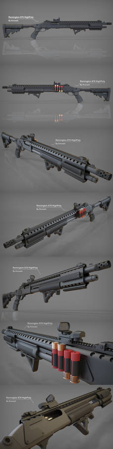 Remington 870 HighPoly