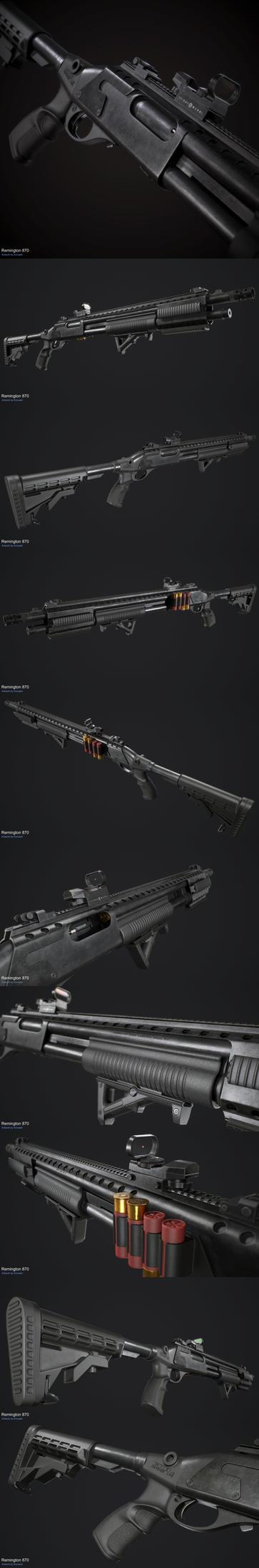 Remington 870 by Krovash