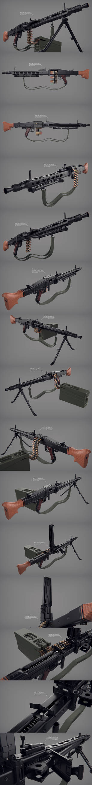 MG 42 HighPoly Render