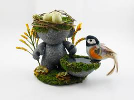 Custom Munny: Egg-Head by Meagan-Marie