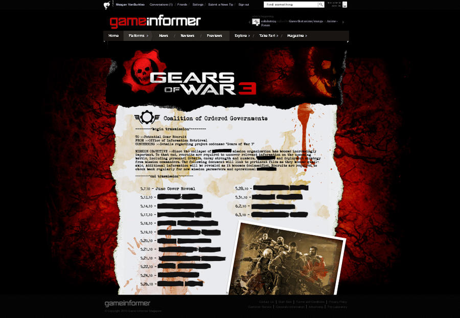 GI Gears of War 3 Hub Page by Meagan-Marie