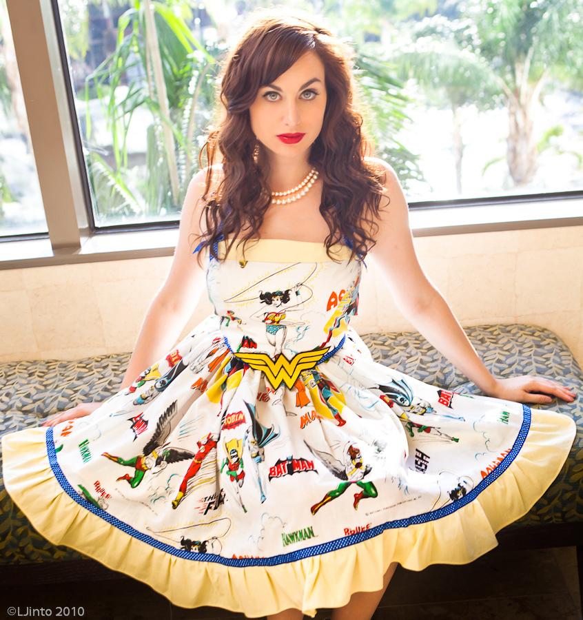 Vintage Bedsheet Dress 2 by Meagan-Marie