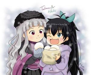 idolm@ster : Hibiki and Takane Winter by R-Yeah